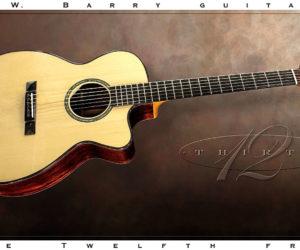 SOLD!!! G W Barry 30-12 OM Steel String Guitar