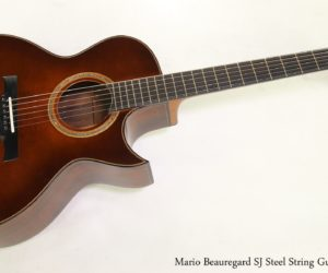 Mario Beauregard SJ Steel String Guitar, 2008