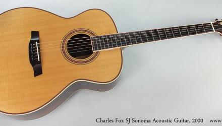 C Fox Guitar For Sale 2000 Charles Fox SJ Sonoma