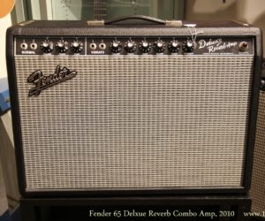 Sold!  Fender 65 Delxue Reverb Combo Amp, 2010