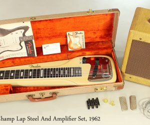 1962 Fender Champ Lap Steel And Amplifier Set  SOLD