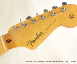 2005 Fender Eric Johnson Sunburst Stratocaster (consignment) SOLD