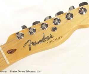 2007 Fender Deluxe Ash Telecaster  SOLD