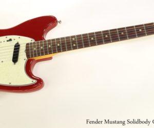 Fender Mustang Solidbody Guitar Red, 1966