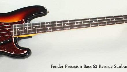 Fender-Precision-Bass-62-Reissue-Sunburst-2011-Full-Front-View