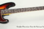 2011 Fender Precision Bass 62 Reissue Sunburst  SOLD