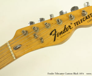 1974 Black Fender Telecaster Custom (consignment) SOLD