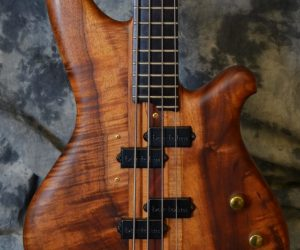 Furlanetto Koa 4 string bass 1981 (Consignment) SOLD