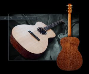 ❌ SOLD ❌  G.W. BARRY   OM Bearclaw Spruce and Pommele Sapele Mahogany
