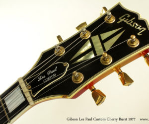 1977 Gibson Les Paul Custom Cherry Burst (consignment)  NO LONGER AVAILBLE