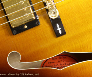 2006 Gibson L-5 CES Sunburst (consignment) SOLD