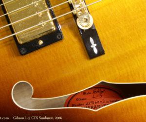 2006 Gibson L-5 CES Sunburst (consignment) SOLD