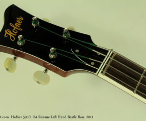 Hofner 500/1 1964 Reissue Left Hand Beatle Bass No Longer Available