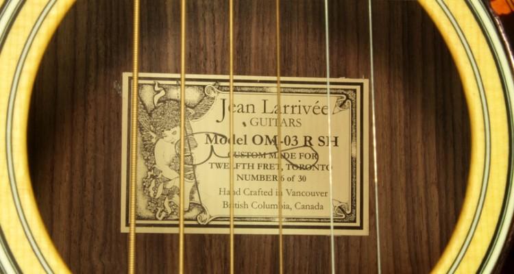 Larrivee-OM-3-R-SH-Twelfth-Fret-Custom-2007-label