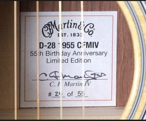 Discontinued: Martin D-28 1955 CFM IV 55th Birthday Anniversary Model