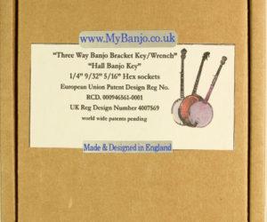 Hall MyBanjo Universal 3 way Banjo Head Tuning Wrench