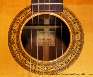 1984 Oskar Graf Cutaway Steel String (consignment) SOLD