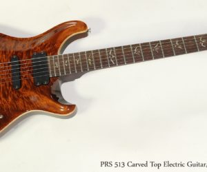 SOLD!!! PRS 513 Carved Top Electric Guitar, Amber 2008