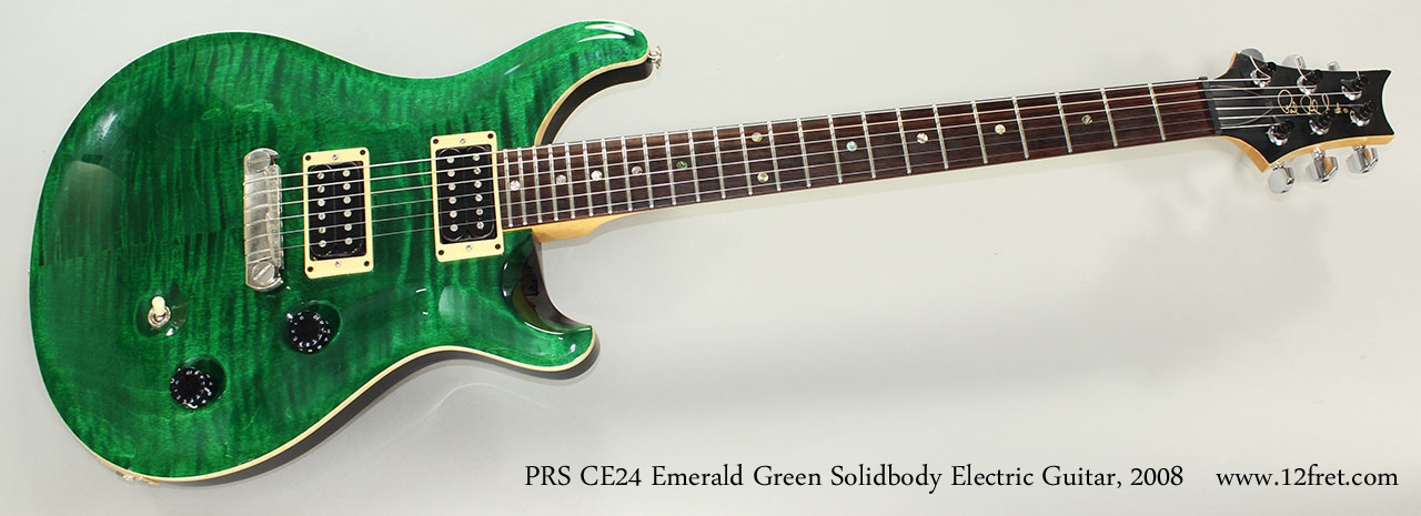 2008 prs ce24 emerald green solidbody electric guitar. Black Bedroom Furniture Sets. Home Design Ideas