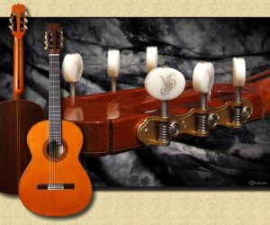 José Ramírez 1a Traditional Auditorio Double Top Concert Classical Guitar