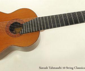 Siavash Tahmasebi 10 String Classsical Guitar 2002