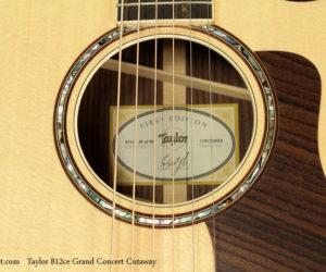 Taylor 812ce Grand Concert Cutaway