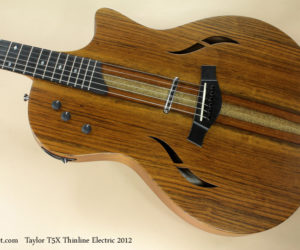 2012 Taylor T5X Thinline Electric SOLD