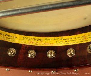 Vega Folklore Openback Banjo 1964-65  SOLD