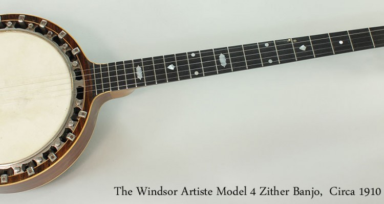 The-Windsor-Artiste-Model-4-Zither-Banjo-Circa-1910-Full-Front-View