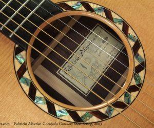 2003 Fabrizio Alberico Cocobolo Cutaway  SOLD