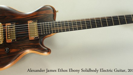 Alexander-James-Ethos-Ebony-Solidbody-Electric-Guitar-2014-Full-Front-View