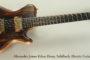 2014 Alexander James Ethos Ebony Solidbody Electric Guitar