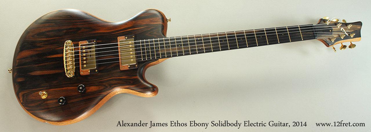 2014 alexander james ethos ebony solidbody electric guitar. Black Bedroom Furniture Sets. Home Design Ideas