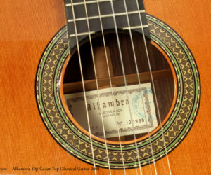2008 Alhambra Model 10p Cedar Top Classical Guitar (consignment) SOLD