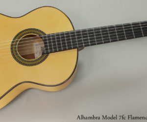 Alhambra 7fc Flamenco Blanco Guitar