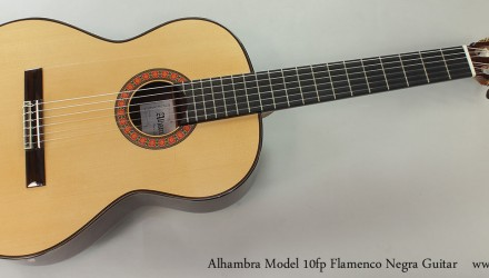 Alhambra-Model-10fp-Flamenco-Negra-Guitar-Full-Front-View