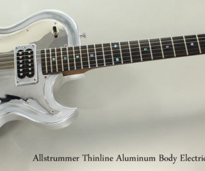SOLD!!! 2000 Allstrummer Thinline Aluminum Body Electric Guitar