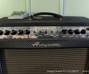 1965-67 Ampeg Gemini II G-15 Amplifier No Longer Available