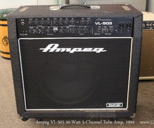 SOLD!! 1994 Ampeg VL-503 50-Watt 3-Channel Tube Amp