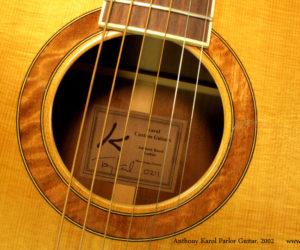 2002 Anthony Karol Parlor Guitar SOLD