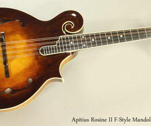 SOLD! 2016 Apitius Rosine II F-Style Mandolin