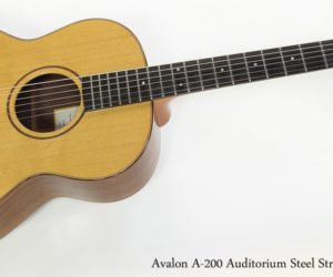 Avalon A200 Auditorium Steel String Guitar, 2003