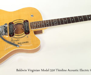 1968 Baldwin Virginian Model 550 Thinline Acoustic Electric Guitar