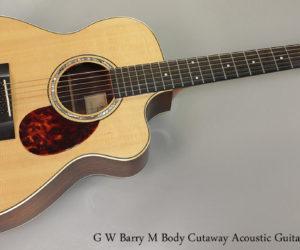 ❌ SOLD ❌  1997 GW Barry M Body Cutaway Guitar