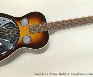 Beard Deco Phonic Model 27 Resophonic Guitar Sunburst