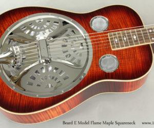 Beard E Model Flame Maple Squareneck Resophonic Guitar