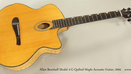 Allan-Beardsell-Model-4-G-Quilted-Maple-Acoustic-Guitar-2004-Full-Front-View