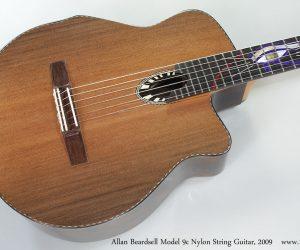 2009 Allan Beardsell Model 9c Nylon String Guitar  SOLD