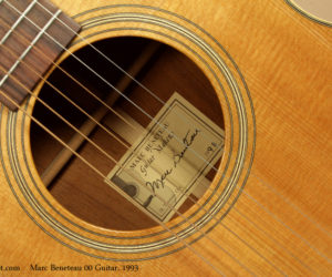1993 Marc Beneteau 00 Guitar SOLD