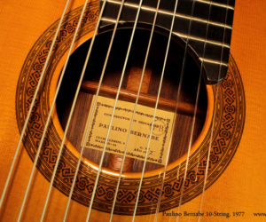 Paulino Bernabe 10-String Classical, 1977 (consignment)   SOLD